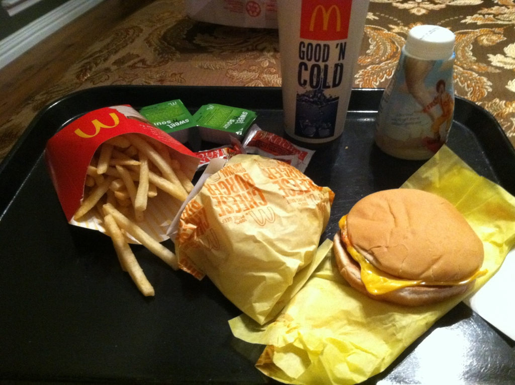 187 mcdonalds � 2 cheeseburgers value meal dine at joes