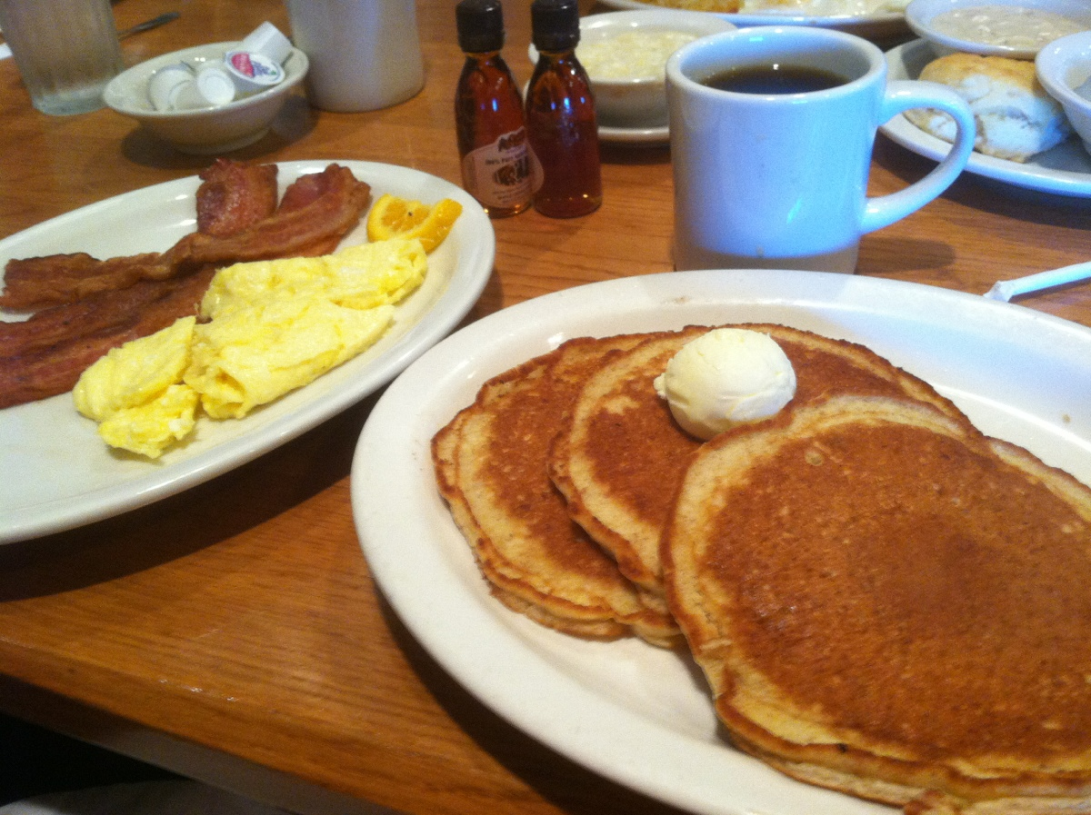 » Cracker Barrel – Multigrain Pancakes, Bacon, and Eggs ...