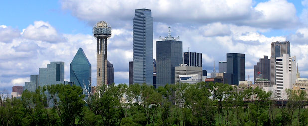 The Skyline of the Great City of Dallas, Texas